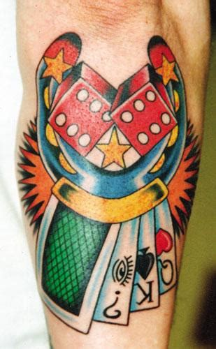 lucky dice tattoo designs dice tattoos