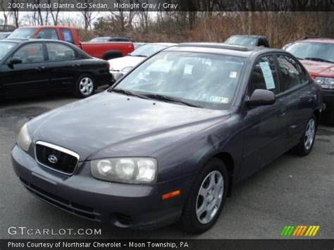 Hyundai Elantra Gls 2002 by Midnight Gray 2002 Hyundai Elantra Gls Sedan Gray