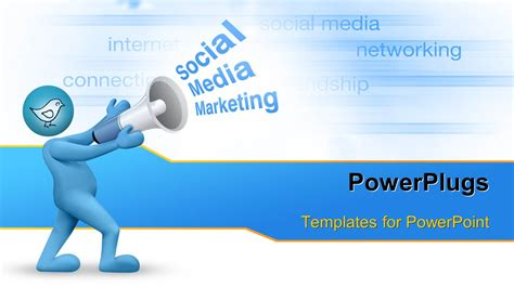 PowerPoint Template: Social Media marketing concept with