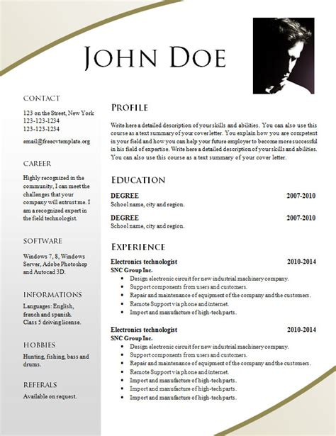 how to format a resume in word 2011 free resume templates 695 701 free cv template dot org