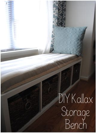 kallax bench the adorable mess diy ikea kallax storage bench