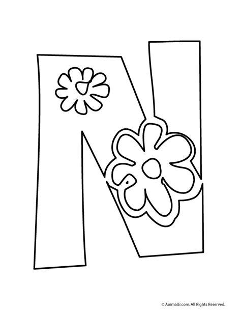 printable alphabet letters with flowers fantasy jr flower bubble letter n teacher pinterest