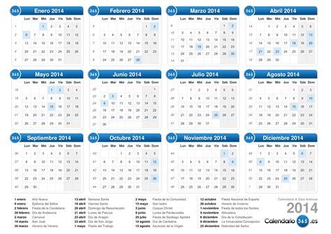 En El Calendario Calendario 2014