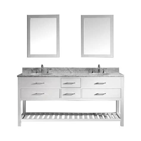 virtu usa huntshire 72 quot virtu usa caroline estate 72 in w x 36 in h vanity with marble vanity top in carrara white