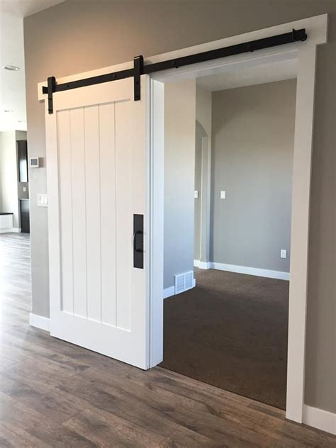 Barn Doors For Closets White Barn Door For The Entry Closet Http Www Titanhomesonline Future House Build