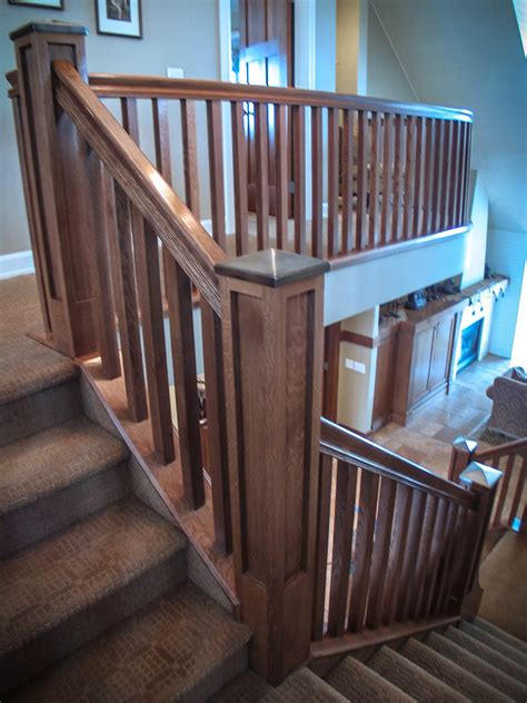 Wood And Style by Mission Style Staircase Railings Artistic Stairs