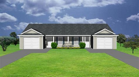 House Plans With Garage Apartment by Duplex Plans By Plansource Inc