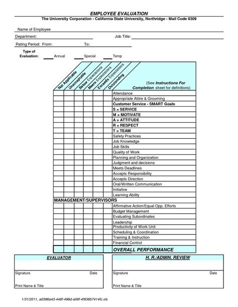 Yearly Employee Review Template Write Happy Ending Annual Employee Review Template