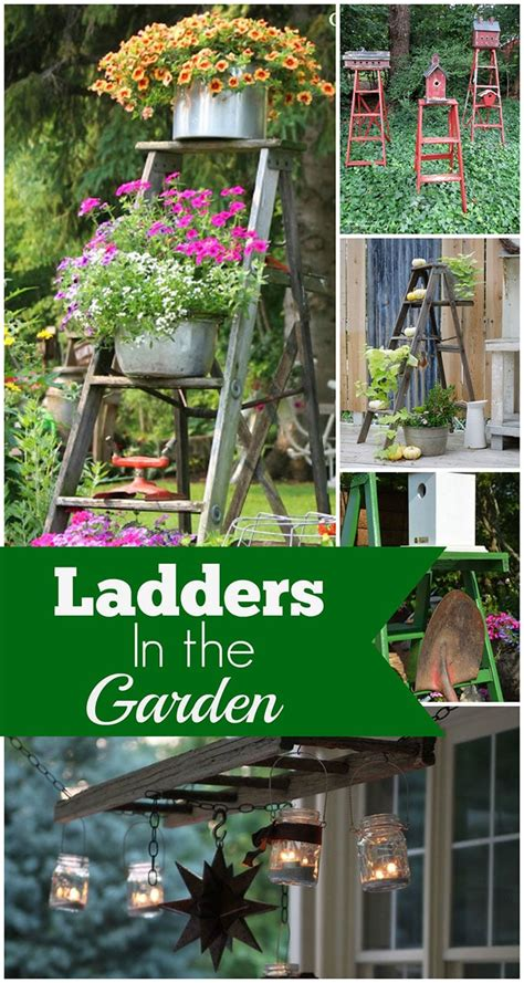 Wooden Ladder Garden Decor Wooden Ladders As Garden House Of Hawthornes