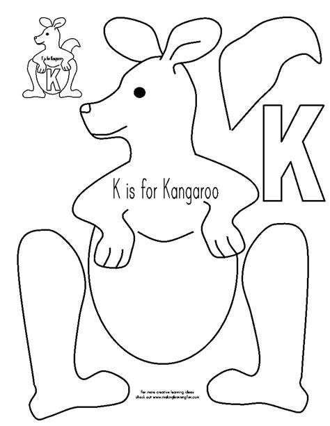 printable koala template kangaroo project for kids art pinterest kangaroos