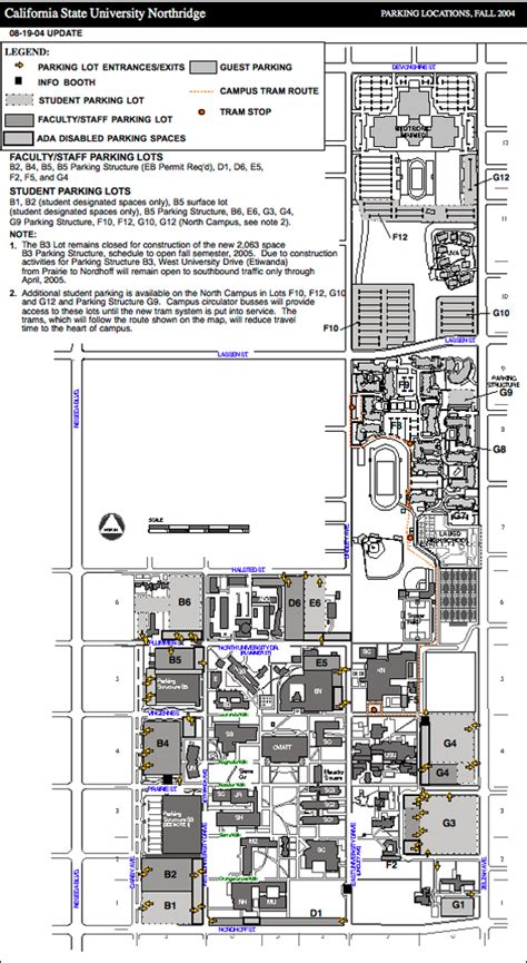 csun housing portal maps parking and links california state university northridge