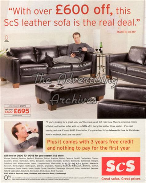 scs sofas advert the advertising archives magazine advert scs 2000s