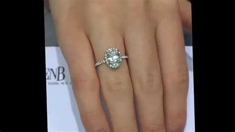 2 00 ct oval cut halo engagement ring in thin pave