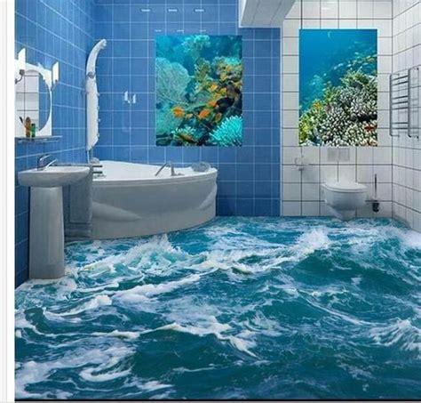 Wallpaper Balok 3d Murah Berkualitas murah foto kustom lantai wallpaper 3d stereoscopic air laut lantai semprot 3d mural pvc