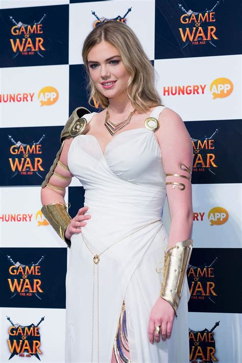 who is the girl in age of war advert kate upton at game of war fire age promotion in busan
