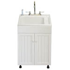 home depot laundry sink with cabinet american shower and bath 101006 standard utility sink 19