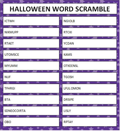 free printable halloween word games for adults image gallery halloween word scramble
