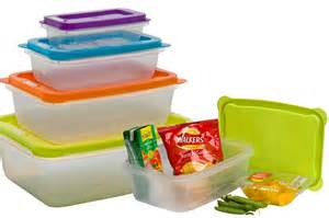 Clip Lock Storage Containers - clear plastic food lunch boxes nested storage stacking containers tubs with lids ebay