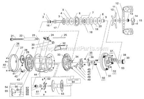 abu garcia reel parts diagram abu garcia 6600 bcx parts list and diagram 16 00