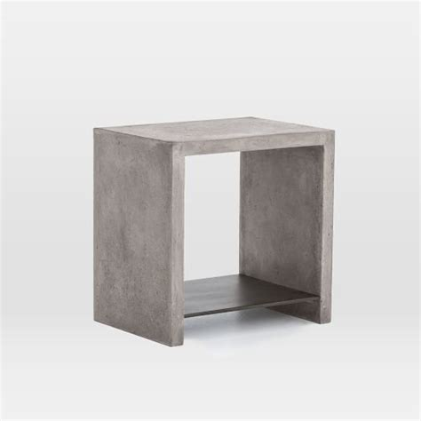 Concrete Side Table Industrial Concrete Side Table West Elm