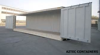 Open side shipping containers for rent amp sale aztec containers