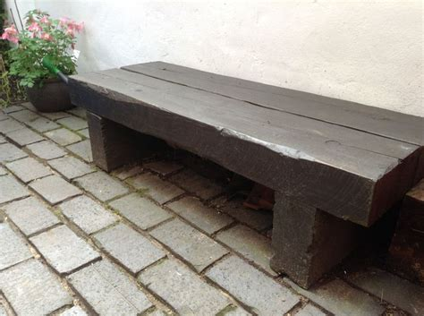 railway sleeper garden bench garden bench made from railway sleepers total cost about a