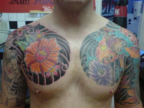 Vine Tattoo On Chest | japanese vine tattoo on chest 187 tattoo ideas