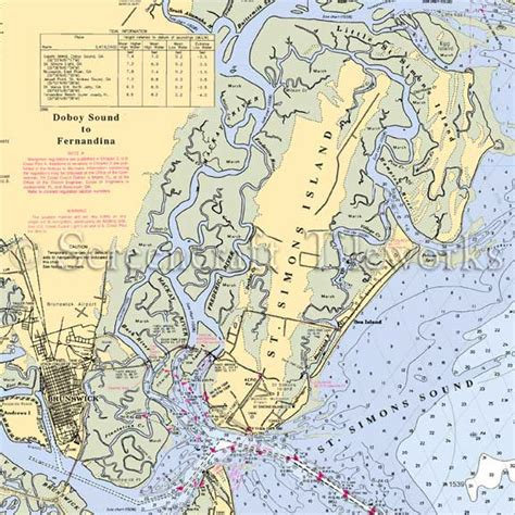 Coastal Kitchen St Simons Island Ga by Georgia St Simons Island Nautical Chart Decor