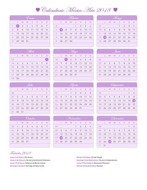 Calendario Lunar 2018 Calendario M 233 Xico A 241 O 2018 Feriados