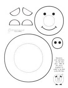 pig template for preschoolers paint a pig craft project squarehead teachers