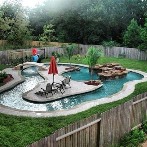 My Own Lil Lazy River Swimming Pool Ideas Backyard Pool With Lazy River