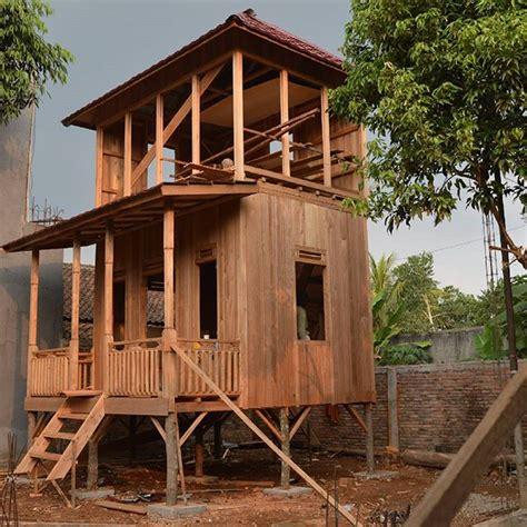 membuat rumah tingkat dari kayu jual rumah kayu i rumah panggung palembang i 081373447722