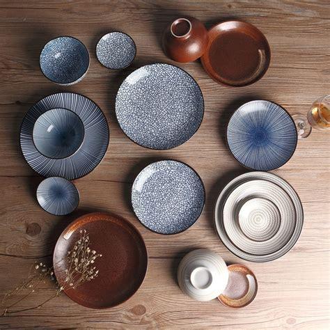 japanese traditional style ceramic dinner plates porcelain