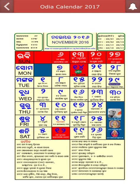 Calendar 2017 App Odia Calendar 2017 With Rasiphala On The App Store