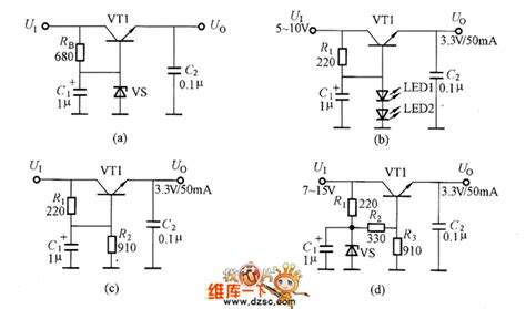 circuit diagram for zener diode as voltage regulator voltage regulator circuit composed of zener diodes power supply circuits fixed power supply