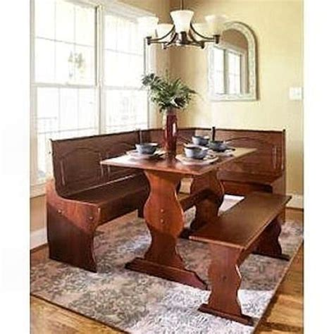 Corner Booth Dining Set Table Kitchen Kitchen Breakfast Nook Dining Set Corner L Shape Booth Wood Dinette Table Bench Shape Dining