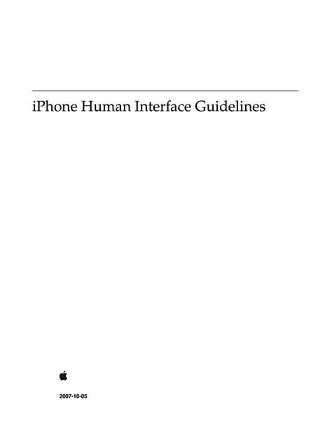 A history of Apple HIG table of contents – the philosophy