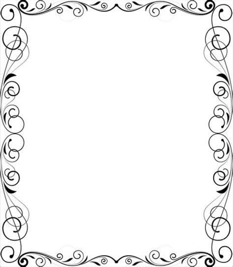 Flourish Frame Outline by Decorative Flourish Frame Stock Image