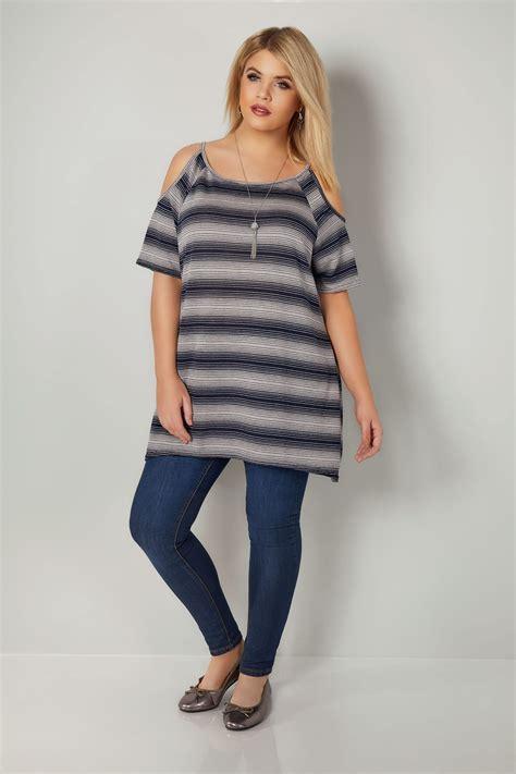 Sweater Casual Fashion Pria Model Purple Indigo Bottom Black List 694 navy striped cold shoulder top plus size 16 to 32