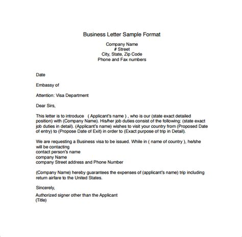 Template Of Business exle of a business letter the best letter sle