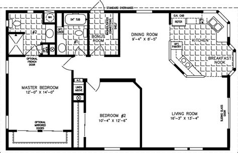 1000 square feet the tnr 3422b manufactured home floor plan jacobsen
