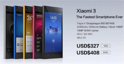 Hp Xiaomi Lipat harga xiaomi mi3 dibanderol 3 6 juta katalog handphone