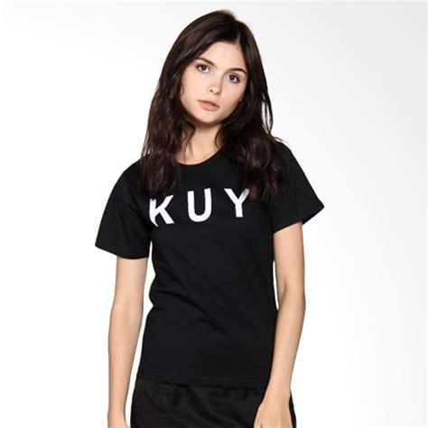 Kaos Tshirt Wanita Hitam jual jclothes kaos wanita branded kuy hitam