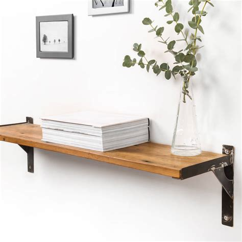 industrial style shelving reclaimed wood and steel industrial style shelf by