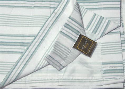 fieldcrest luxury shower curtain fieldcrest luxury dobby stripe pale aqua blue green fabric