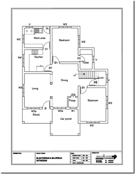 3 bhk single floor house plan modern 3 bhk kerala home design at 1610 sq ft
