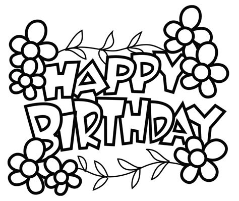 printable coloring pages happy birthday free printable birthday cards to color gangcraft net