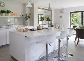 Kitchen Island Worktops white modern kitchen with island unit and hi gloss worktops