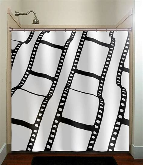 movie themed curtains negative film strip movie reel shower curtain bathroom
