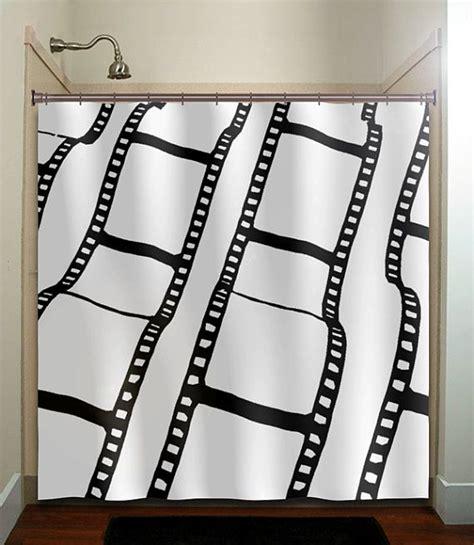 movie shower curtains negative film strip movie reel shower curtain bathroom